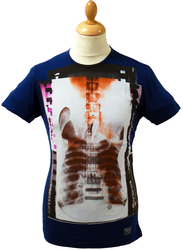 Guitar X-Ray BEN SHERMAN Retro Indie Print T-Shirt