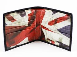 BEN SHERMAN Union Jack Retro Mod Leather Wallet B