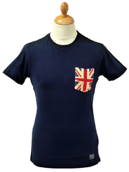 Union Jack BEN SHERMAN Retro Mod Pocket T-Shirt CB