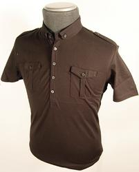 'Metro' - Retro Indie Mens Polo by BEN SHERMAN