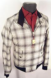 BARACUTA Black/White Check G9 Harrington Jacket