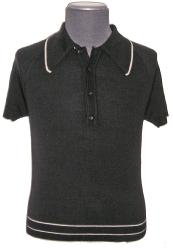 'Brando' - Sixties Knitted Polo Shirt
