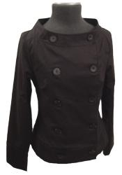 'Le Beat' - Ladies Retro Sixties Mod Jacket (Blk)