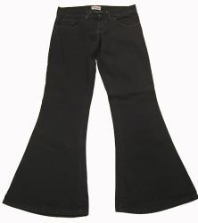 'Opus Flare' - Black Seventies Denim Indie Flares