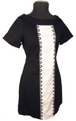 'Claudette' - Retro Sixties Mod EC STAR Dress (B)