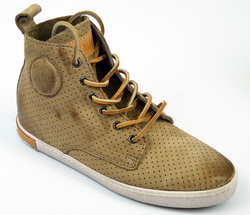 FL62 BLACKSTONE Retro Perforated Nubuck Hi Top (T)