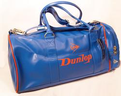 'Holder' - Retro Dunlop Holdall Bag (Blue)