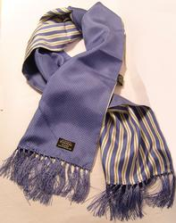 TOOTAL SCARF - Blue Pin Dot with Stripe Reverse
