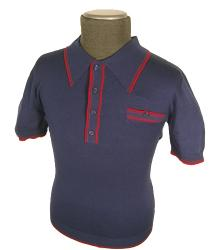 'Charlie' - Sixties Mod Mens Knitted Polo Shirt