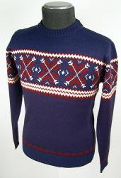 'Woolly Jumper' - Retro Winter Jumper (Blue)