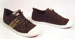 'Preppy Brown'-Retro Indie Trainers by NANNY STATE