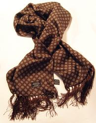 TOOTAL SCARF - Sixties Pattern in Bark