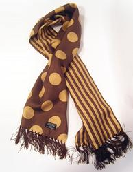 TOOTAL SCARF - Brown Penny Dot Stripe