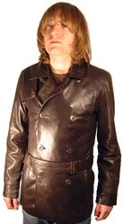 ORIGINAL PENGUIN Mens Retro Leather Jacket