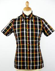 BRUTUS TRIMFIT Black/Yellow Mod Tartan Check Shirt