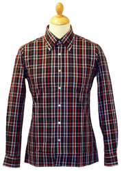 Black Check BRUTUS TRIMFIT Retro Indie Mod Shirt