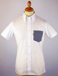 Gingham Pocket BRUTUS TRIMFIT Retro Mod Shirt (W)