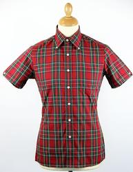 BRUTUS TRIMFIT Cardinal Red Mod Tartan Check Shirt