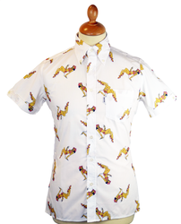 BRUTUS TRIMFIT Hawaiian Tiki Girl Retro Mod Shirt