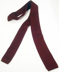 'Windsor Knitted Tie' - Sixties Mod Mens Tie (Bur)