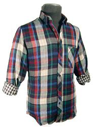'Garner' - Mens Retro Double faced Shirt by AERTEX