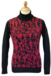 'UFO' CHENASKI Retro 60s Mod Turtleneck Jumper B