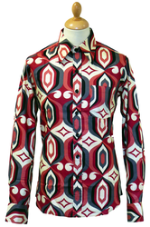 Core CHENASKI Retro Sixties Mod Op Art Mens Shirt
