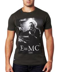 E=MC CHUNK Albert Einstein Retro Print T-shirt
