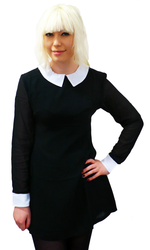 'Koko' Retro 60s Mod Pointed Flat Collar Dress (B)