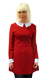 'Koko' Retro 60s Mod Pointed Flat Collar Dress (W)