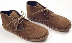 'Crowley' Mod Cord Desert Boots by IKON ORIGINALS