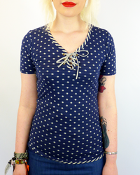 Star In My Eye DAINTY JUNE Retro Bootlace Top