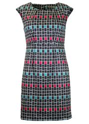 Megan DARLING Retro Mod Texture Colour Block Dress