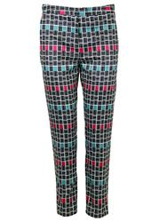 Megan DARLING Retro Color Block Cigarette Trousers