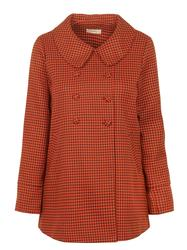 Enid DARLING Retro Mod Houndstooth Check Coat (C)