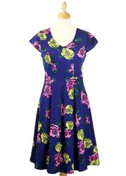 Talia DARLING Retro 60s Floral Vintage Tea Dress