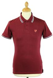 DAVID WATTS Made in Great Britain Mod Polo (Bu)