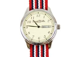 Earl DAVID WATTS Retro Mod Stripe Quartz Watch RWB