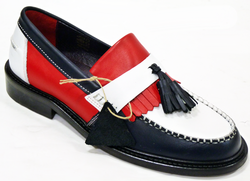 Rude Boy DELICIOUS JUNCTION Mod Tassel Loafers RWB