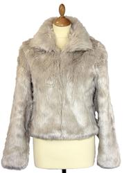 Dallas DESIGNER DUCHESS Retro 60s Faux Fur Jacket