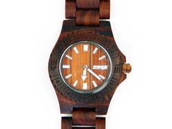 New in - DONK Wood Watch in Classic Retro Dark Brown DK02