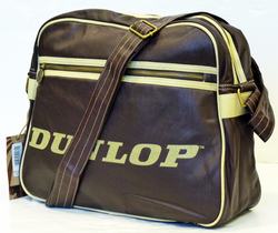 DUNLOP Retro Mod Soft Cracked PU Shoulder Bag (Br)