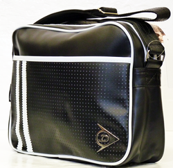 DUNLOP Retro Racing Stripe Perforated Shoulder Bag