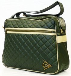 DUNLOP Diamond Quilt Retro Mod Shoulder Bag (G)