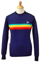 Retro Stripe Knit DUNLOP RETRO Indie Mod Jumper