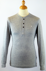 The Buckley FARAH 1920 Retro Mod Fleck Henley Tee