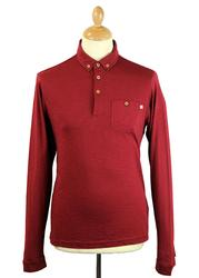 Stapelford FARAH 1920 Mod L/S Textured Polo Top DR