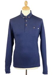 Stapelford FARAH 1920 Mod L/S Textured Polo Top DI