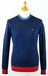 Hawke FARAH VINTAGE Retro Mod Colour Block Jumper