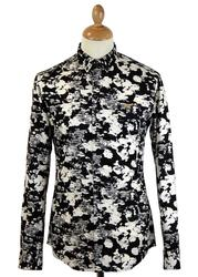 Myles Farah Vintage Abstract Smudge Camo Shirt B/W